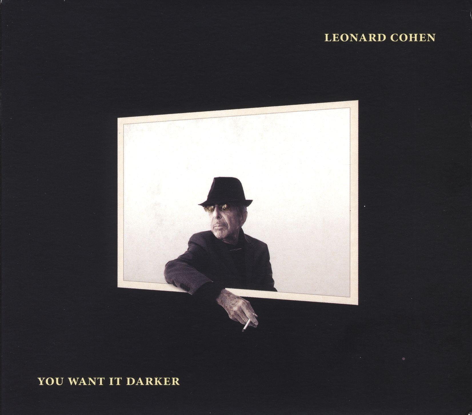 Leonard Cohen - You Want It Darker album cover