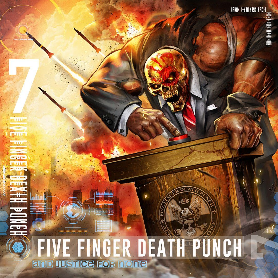Five Finger Death Punch - And Justice For None album cover