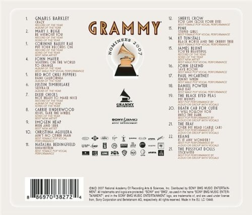 Various Artists - 2007 Grammy Nominees album cover
