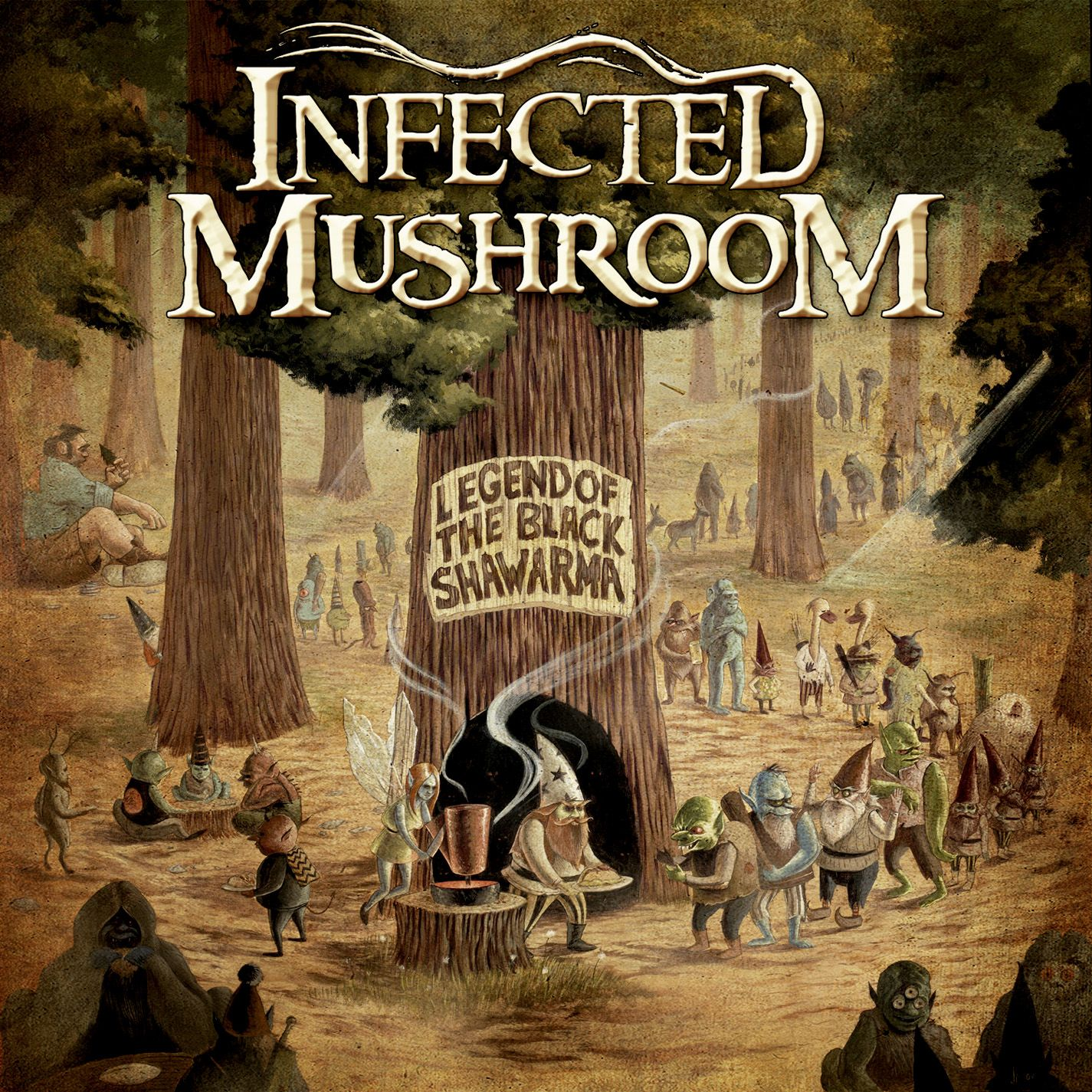 Infected Mushroom - Legend Of The Black Shawarma album cover