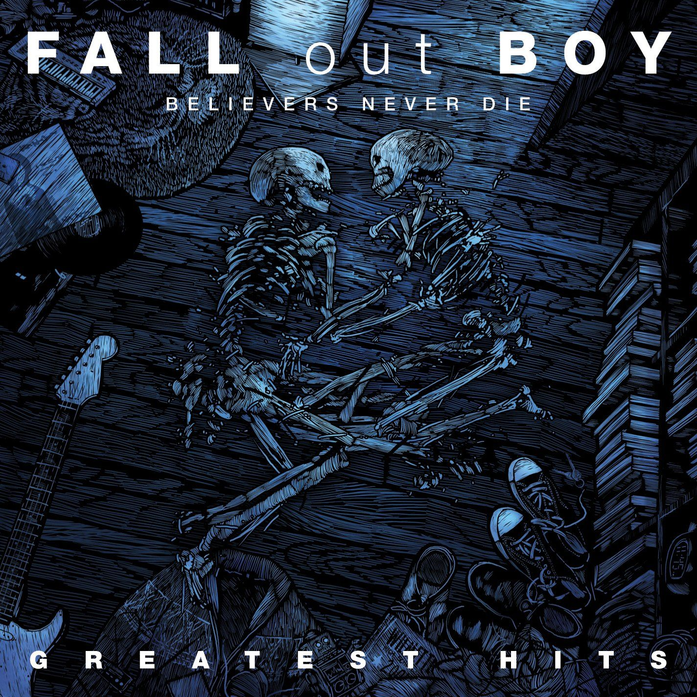 Fall Out Boy - Believers Never Die - The Greatest Hits album cover