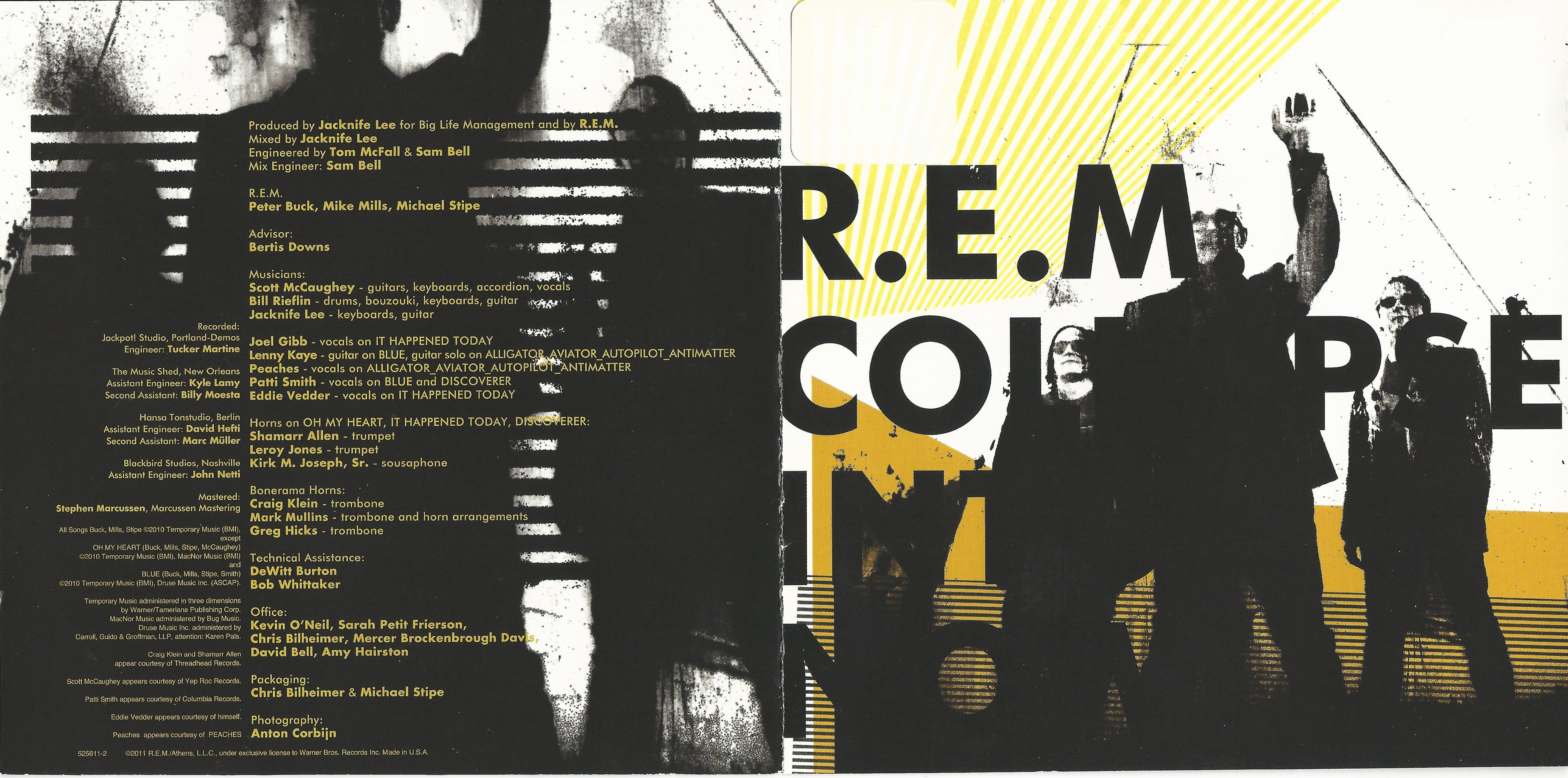 R.E.M. - Collapse Into Now album cover