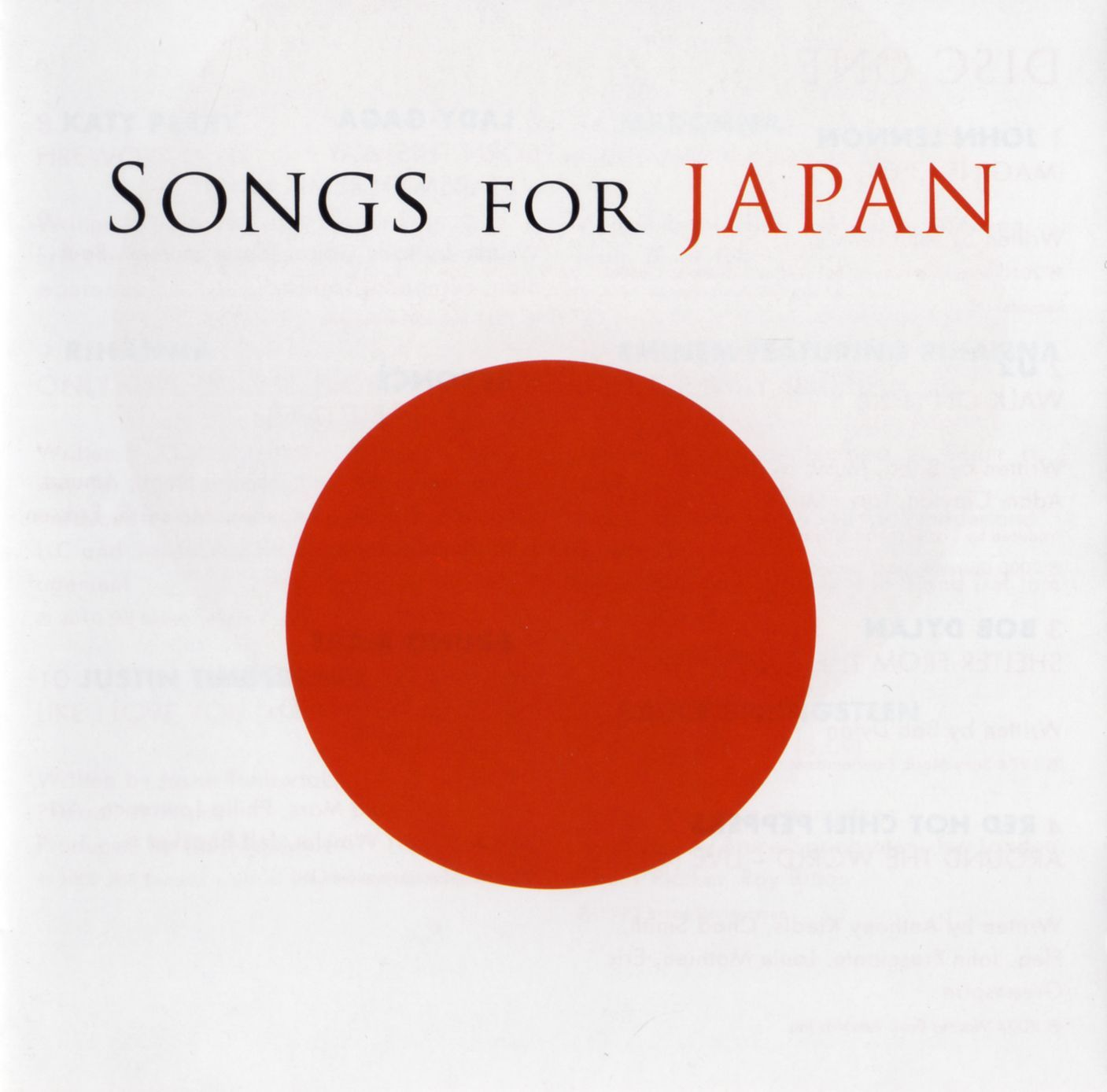 Various Artists - Songs For Japan album cover