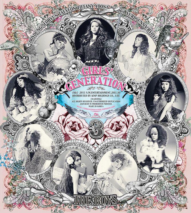 Girls Generation - The Boys album cover