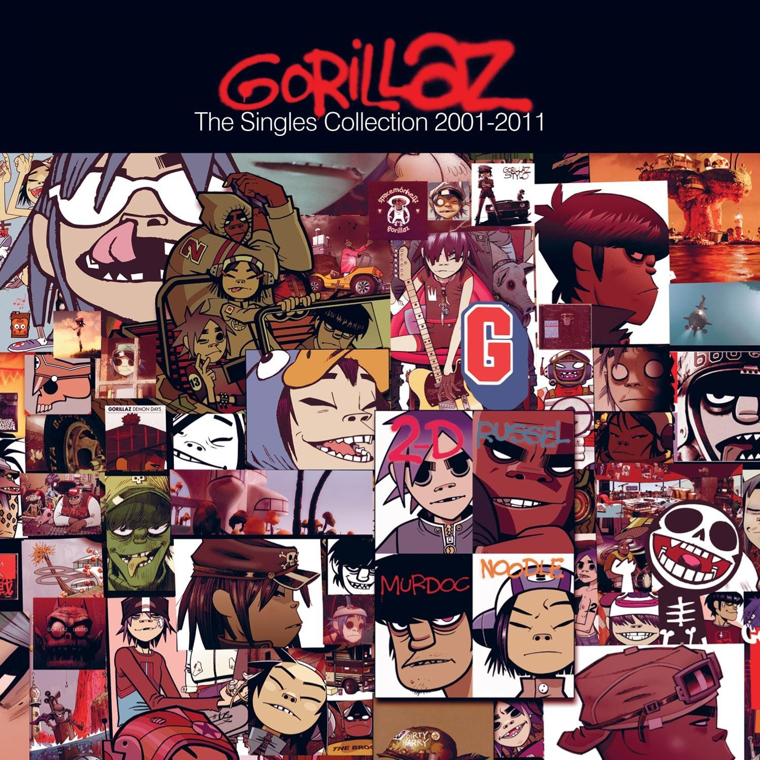 Gorillaz - The Singles Collection 2001-2011 album cover
