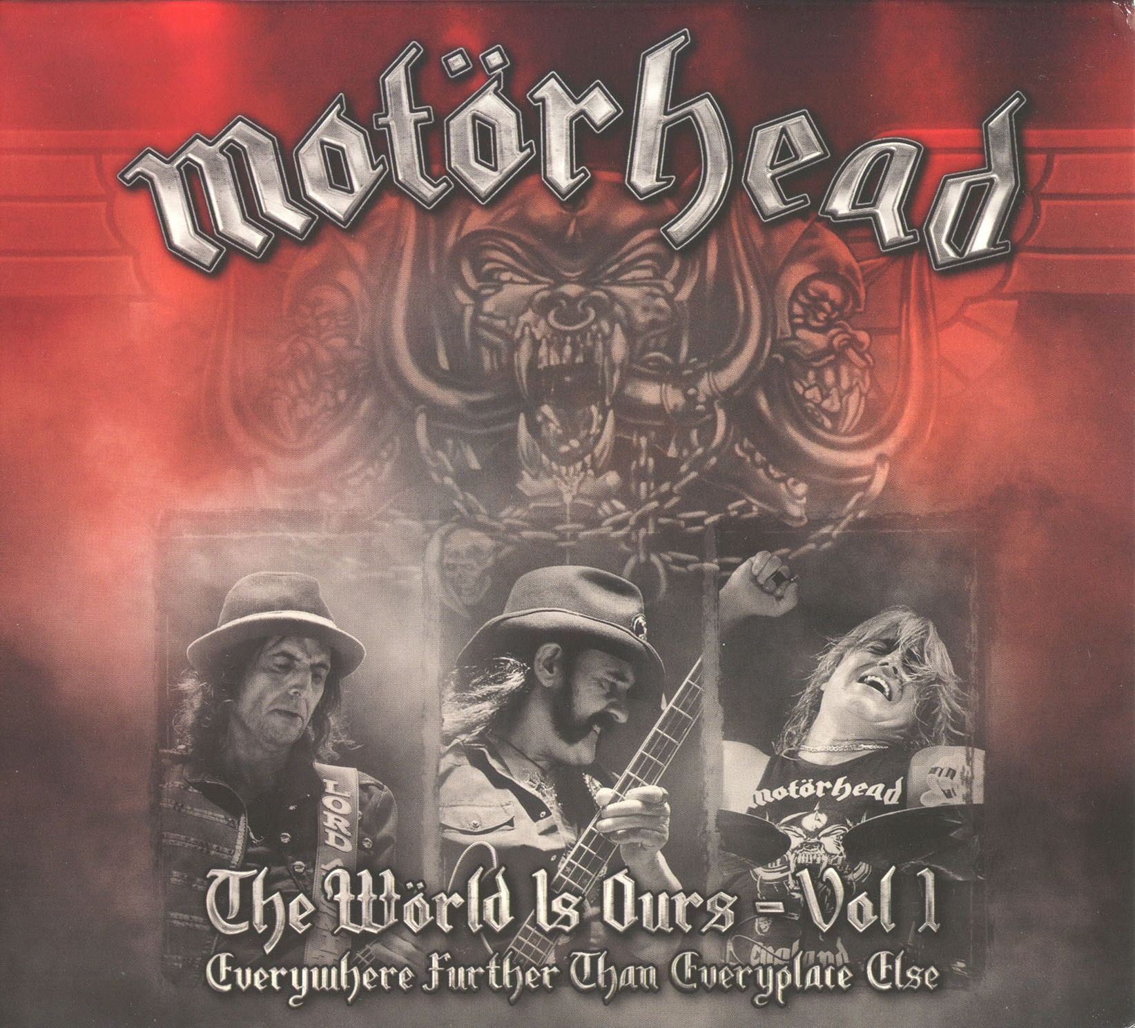 Motörhead - The Wörld Is Ours - Volume 1 - Everywhere Further Than Everyplace Else album cover