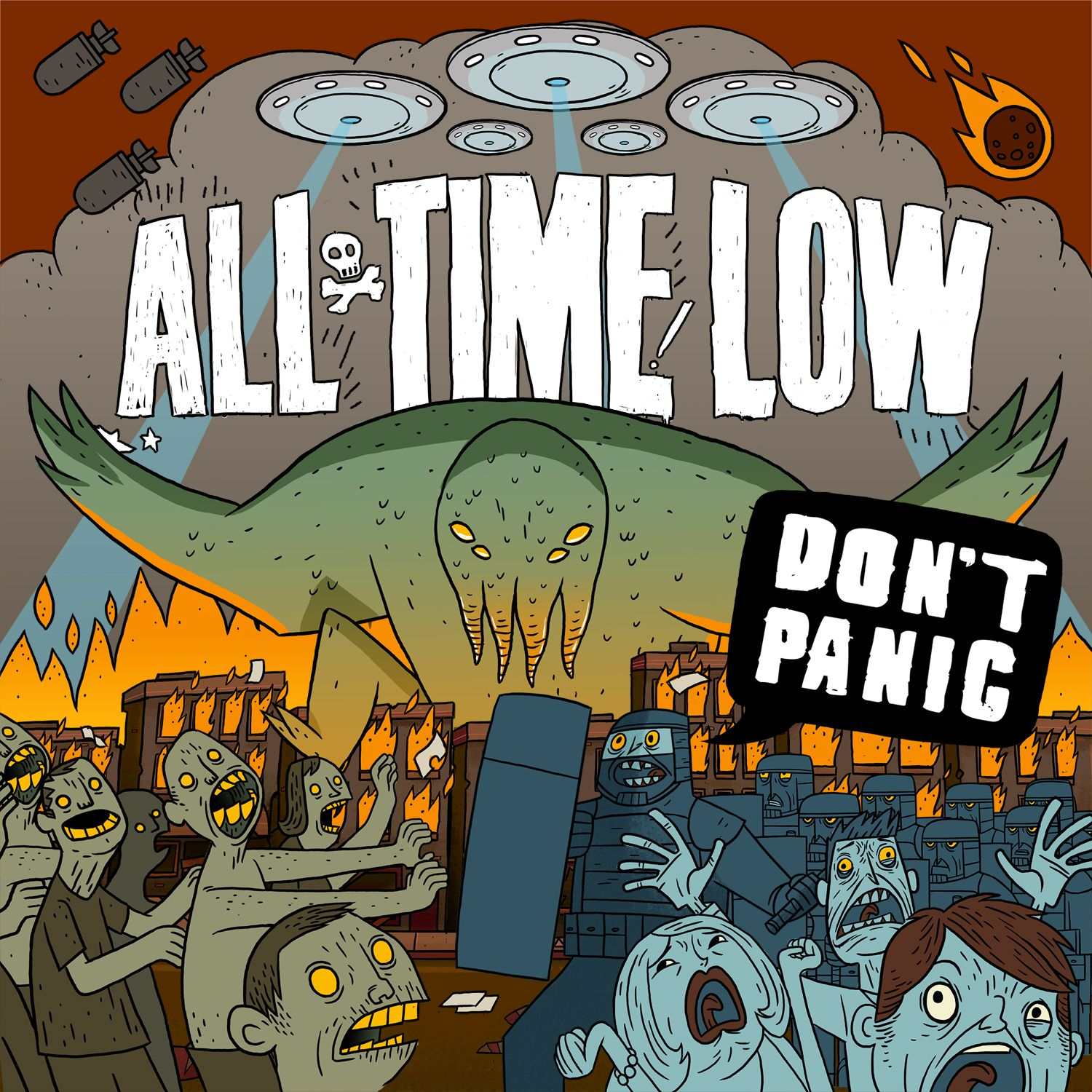All Time Low - Don't Panic album cover