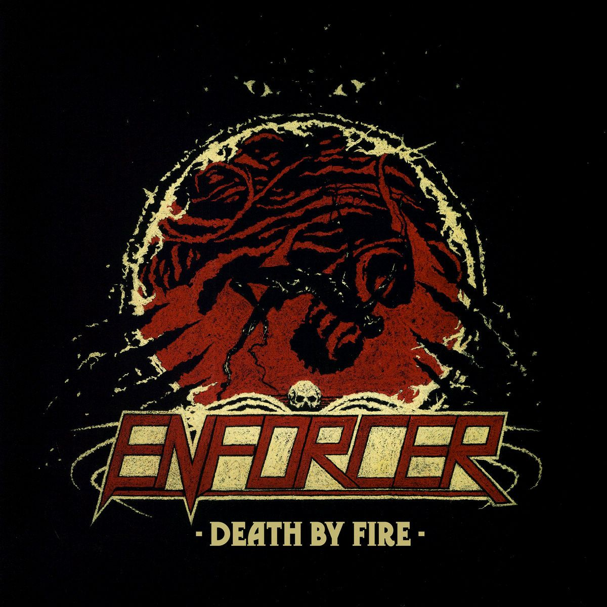 Enforcer - Death By Fire album cover