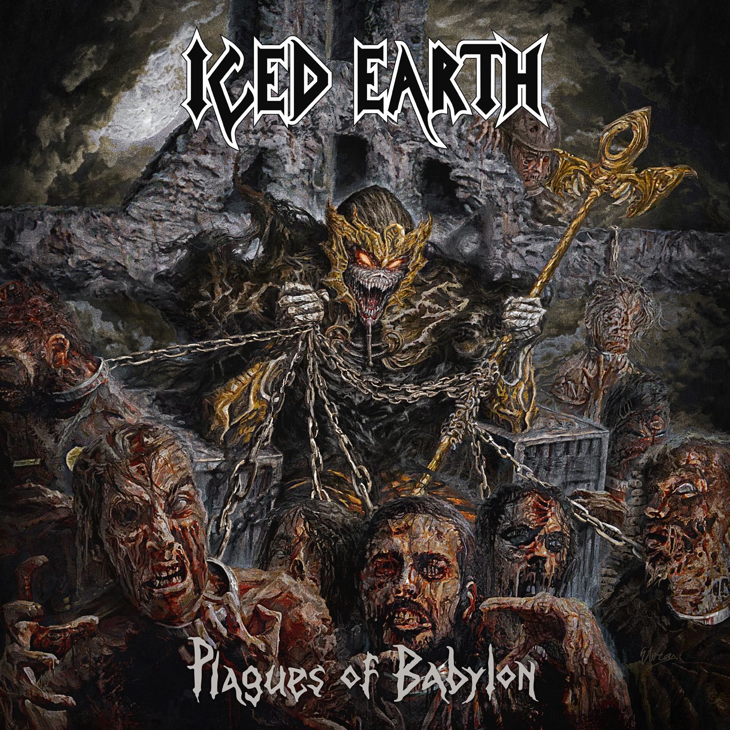 Iced Earth - Plagues Of Babylon album cover