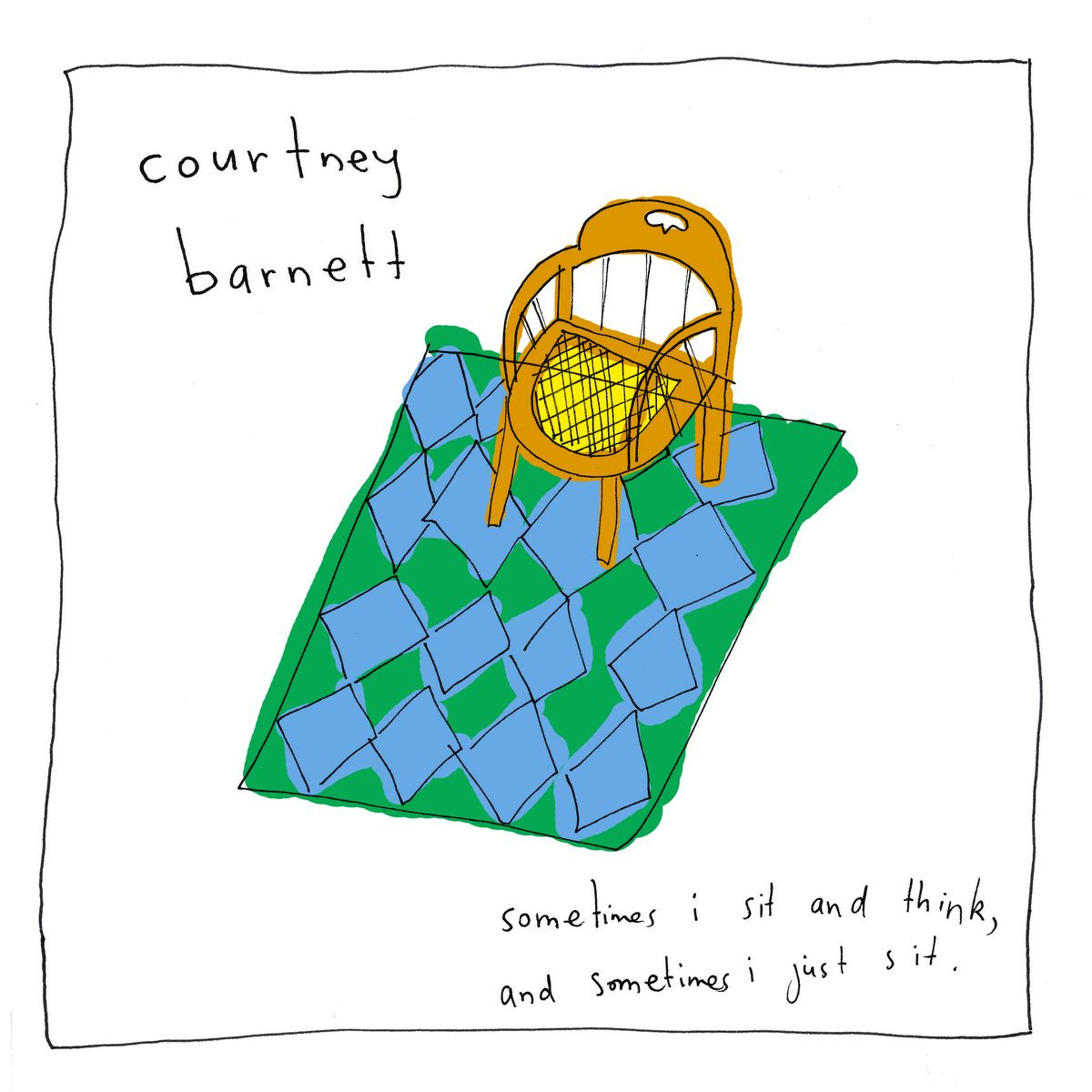 Courtney Barnett - Sometimes I Sit And Think & Sometimes I Just Sit album cover