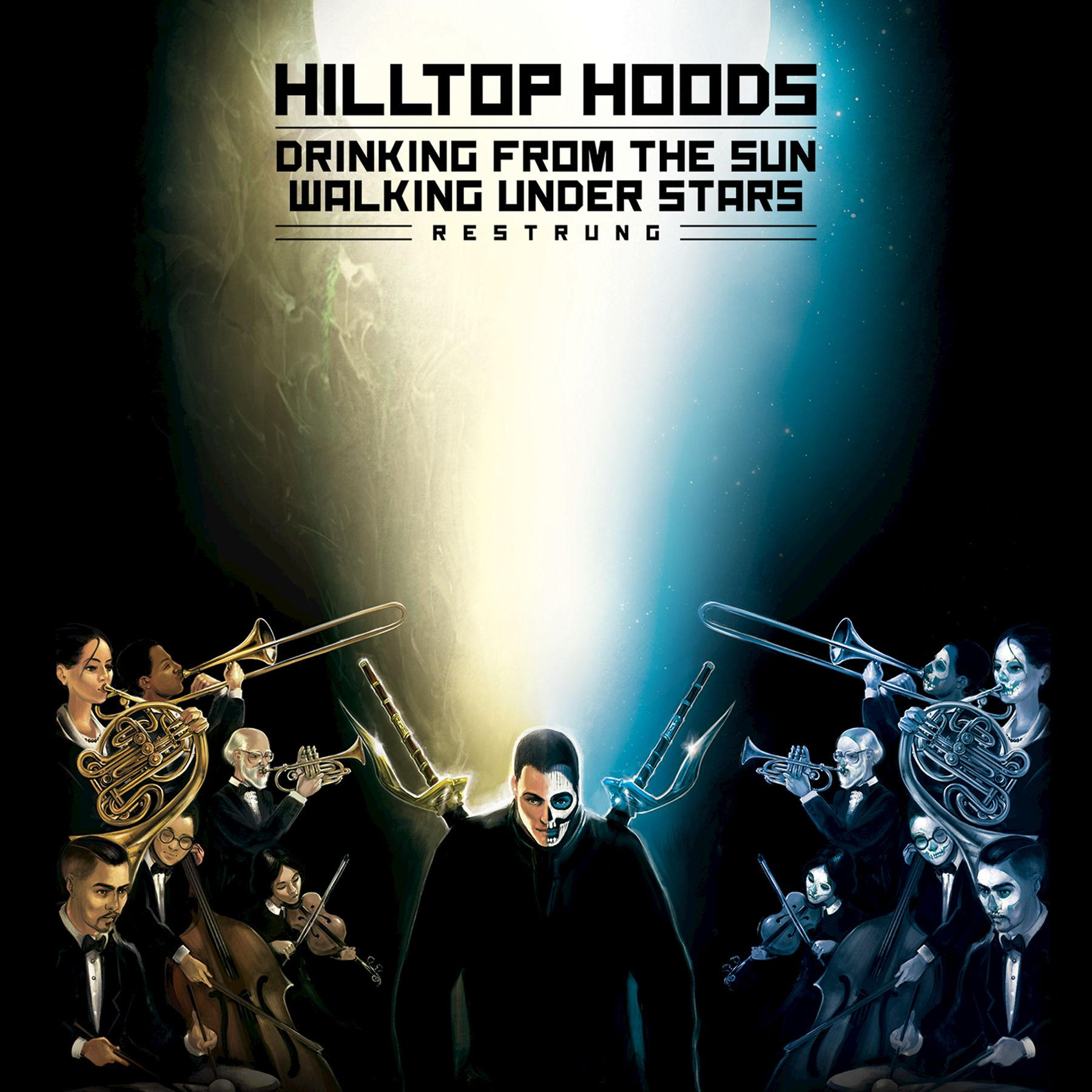 Hilltop Hoods - Drinking From The Sun - Walking Under Stars - Restrung album cover